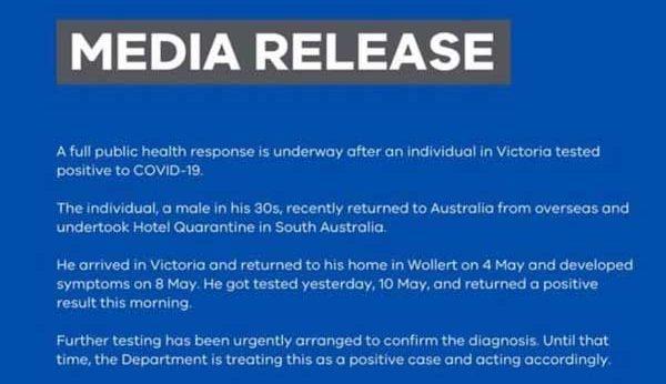 Victoria-Media-Release
